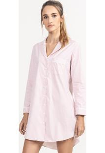Camisão De Pijama Em Algodão Listrado Lunna
