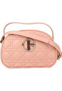 Bolsa Giulia Bardô Mini Bag Transversal Feminina - Feminino-Bege