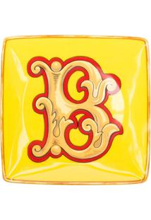 Versace Home Tigela Holiday Alphabet 'B' - Amarelo