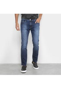 Calça Jeans Skinny Replay Anbass Masculina - Masculino-Azul