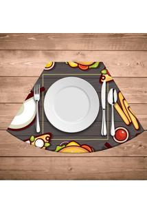 Jogo Americano Para Mesa Redonda Wevans Fast Food