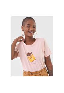 Camiseta Cantão Chocolate Rosa