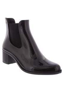 Ankle Boots Terra & Água Salto Bloco Preto
