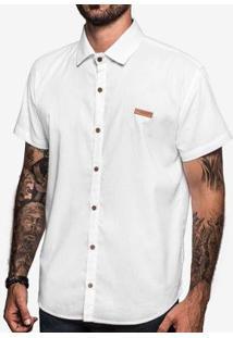 Camisa Hermoso Compadre Linho Masculina - Masculino-Branco