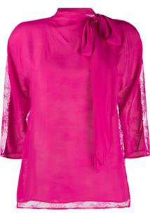 Philosophy Di Lorenzo Serafini Floral Lace Detailed Top - Rosa