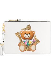 Moschino Clutch Tframe Teddy Bear - Branco