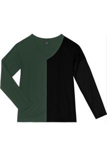 Blusa Feminina Bicolor Verde