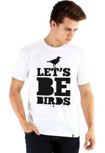Camiseta Ouroboros Manga Curta Let'S Be Birds - Masculino-Branco