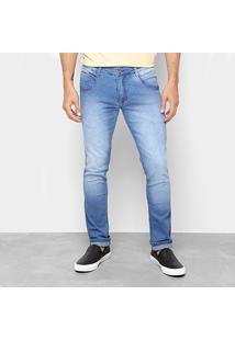 Calça Jeans Skinny Biotipo Masculina - Masculino-Azul