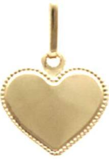 Pingente Prata Mil Coração Ouro