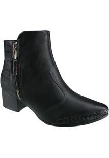 Bota Ramarim Ankle Boot Total Comfort Feminina - Feminino-Preto