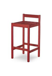 Banqueta Quadra Estrutura Vermelha 83Cm - 61596 Vermelho