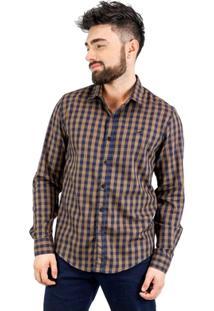 Camisa Norfolk Quadriculada Com Bordado - Masculino