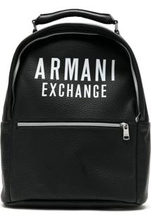 Armani Exchange Mochila Com Logo - Preto