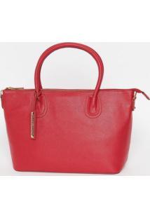 Bolsa Com Bag Charm - Vermelha - 23X30X13Cmloucos E Santos