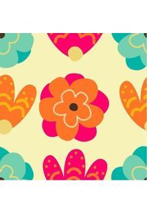 Papel De Parede Adesivo Flores Coloridas (0,58M X 2,50M)