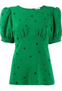 P.A.R.O.S.H. Blusa Com Estampa De Estrela - Verde