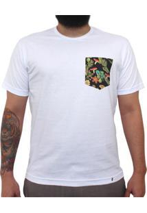 Cogumelos Tropicais - Camiseta Clássica Com Bolso Masculina