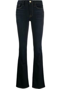 Frame Calça Jeans Bootcut Cintura Média Mini Boot - Azul