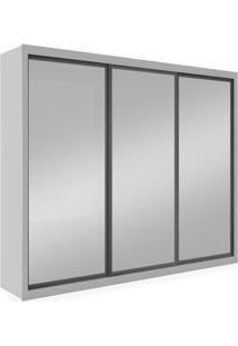 Guarda-Roupa 3 Portas Com Espelho, Branco, Boston Ii