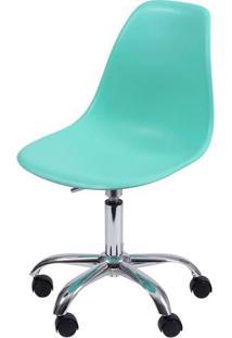 Cadeira Eames Com Rodizio Polipropileno Verde Tifanny- 35835 - Sun House