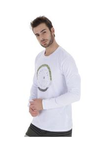 Camiseta Manga Longa Hang Loose Army - Masculina - Branco