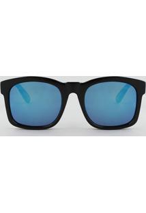Óculos De Sol Quadrado Masculino Oneself Preto - Único