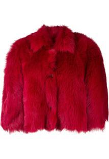 Red Valentino Oversized Cropped Jacket - Vermelho