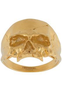 Northskull Anel Medius Com Caveira - Dourado