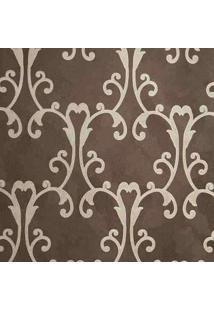 Papel De Parede Vinílico Lavável Maya Wallpaper 0,53 X 10M Arabescos Marrom/Dourado
