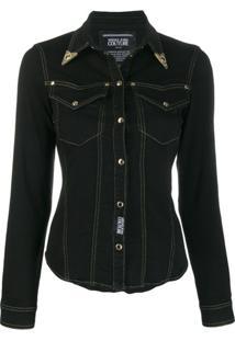 Versace Jeans Couture Jaqueta Jeans - Preto