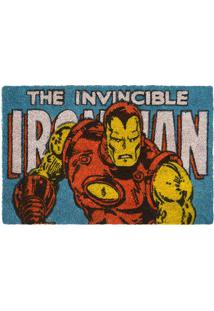 "Capacho Iron Man® ""The Invincible""- Azul & Amarelo- Mabruk"