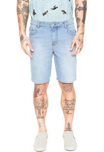 Bermuda Jeans Coca-Cola Jeans Reta Fit Azul