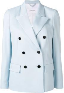 Calvin Klein Blazer Com Abotoamento Duplo - Azul