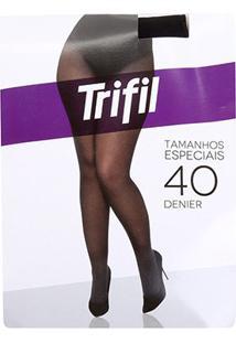 Meia Calça Trifil Plus Size Fio 40 Opaca Feminina - Feminino-Bege