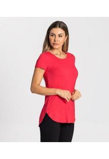 Blusa Alongada Feminina Rovitex Básicos - Feminino-Rosa