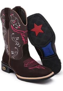 Bota Texana Couro Cano Alto Conforto Rodeio Leve Dia A Dia - Feminino