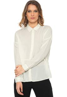 Camisa Jdy Recorte Off-White