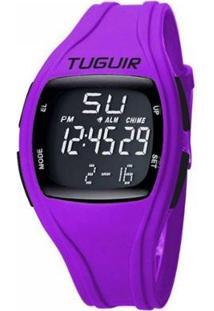Relógio Tuguir Digital Feminino - Feminino-Preto+Roxo