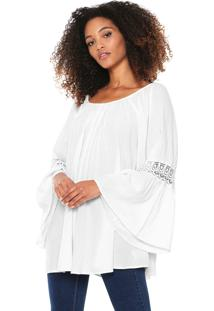 Blusa Billabong Side By Side Off-White