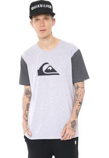 Camiseta Quiksilver And W Bico Cinza/Grafite