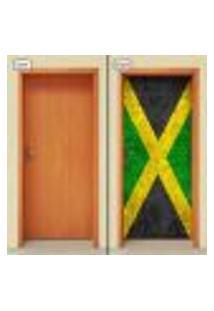 Adesivo Decorativo De Porta - Bandeira Jamaica - 1897Cnpt
