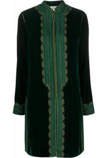 Folkloore Casaco Moroccan De Seda - Verde