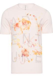 Camiseta Masculina Estampa Adventure - Rosa