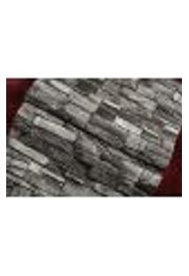 Papel De Parede Importado Vinilico Textura Pedra Escura 3D