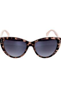 Óculos De Sol Veneza Onça Estampado