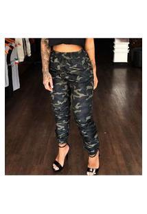 Calça Feminina Jogger Fashion Camuflada Ks Casual&Sport