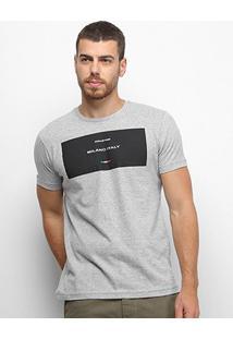Camiseta Industrie Estampada Masculina - Masculino-Cinza