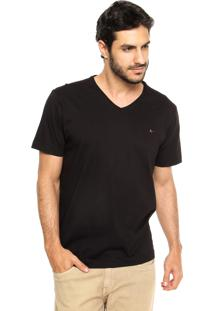 Camiseta Aramis Regular Fit Lisa Preta