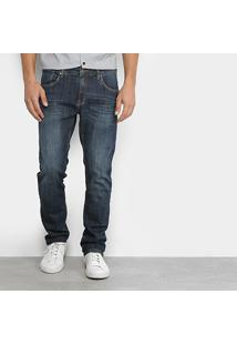 Calça Jeans Slim Aleatory Estonada Masculina - Masculino-Jeans